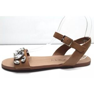 Excellent condition jeweled Gemma sandal